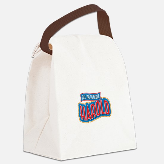 The Incredible Harold Canvas Lunch Bag