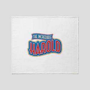 The Incredible Harold Throw Blanket