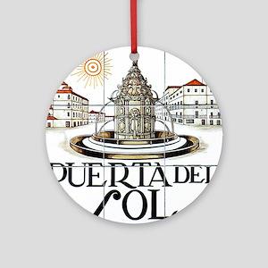 Puerta del Sol, Madrid - Spain Ornament (Round)