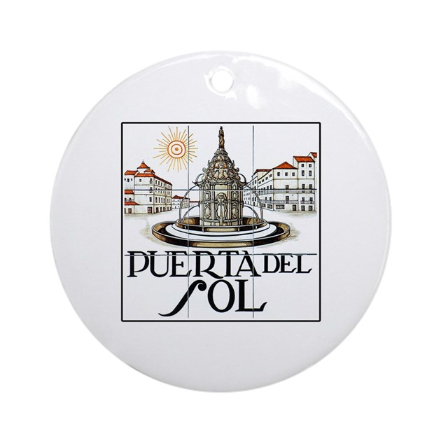 Puerta del sol madrid spain ornament round by - Pension puerta del sol ...