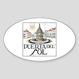 Puerta del Sol, Madrid - Spain Oval Sticker