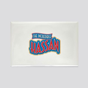 The Incredible Hassan Rectangle Magnet