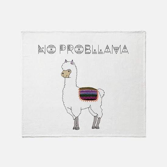 Funny Llama Throw Blanket
