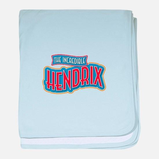 The Incredible Hendrix baby blanket