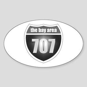 Interstate 707 Oval Sticker