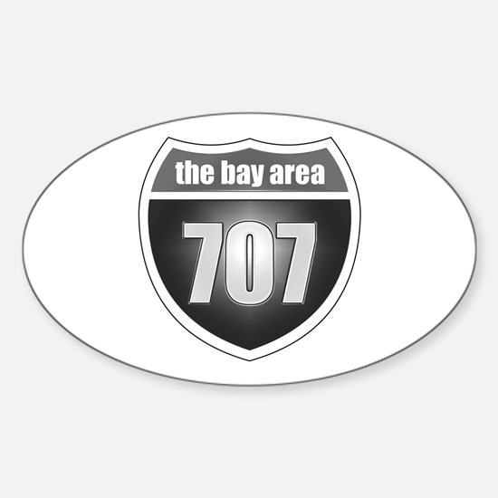 Interstate 707 Oval Decal
