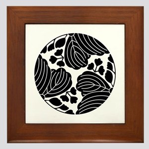 Trisected paulownias 5/3 blooms Framed Tile