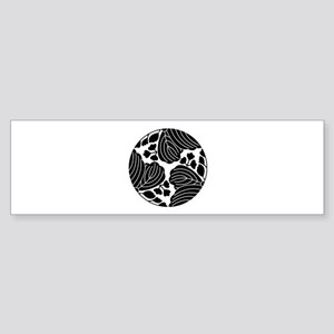 Trisected paulownias 5/3 blooms Sticker (Bumper)