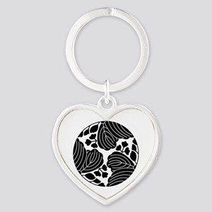 Trisected paulownias 5/3 blooms Heart Keychain