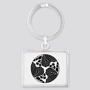 Trisected paulownias 5/3 blooms Landscape Keychain