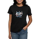 Hockey Puck Break Through Women's Dark T-Shirt