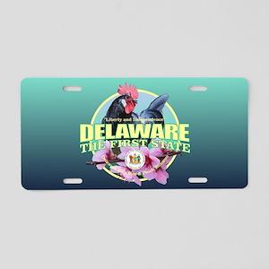 Delaware State Bird & Flower Aluminum License Plat