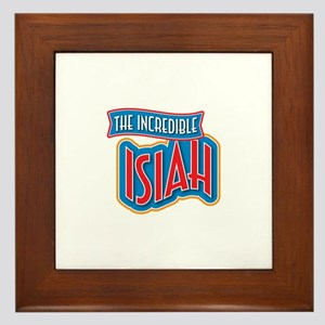 The Incredible Isiah Framed Tile