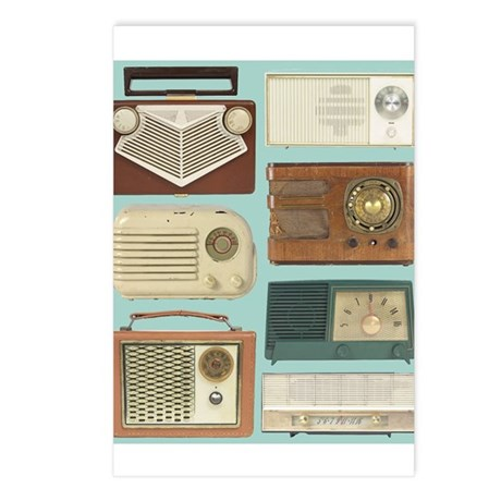 Classic Radios Postcards (Package of 8)