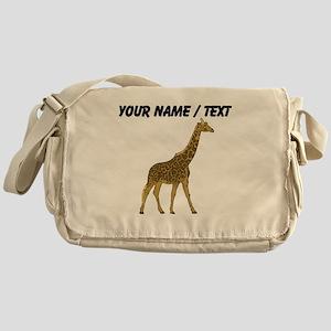 Custom Giraffe Messenger Bag