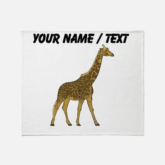 Custom Giraffe Throw Blanket