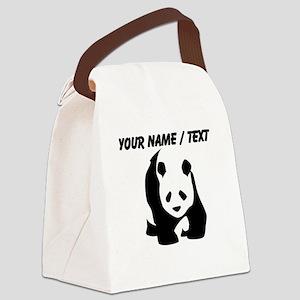 Custom Panda Bear Canvas Lunch Bag