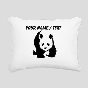 Custom Panda Bear Rectangular Canvas Pillow