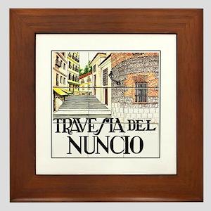 Travesía del Nuncio, Madrid - Spain Framed Tile