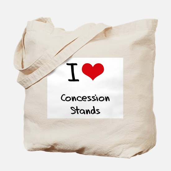I love Concession Stands Tote Bag