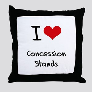 I love Concession Stands Throw Pillow