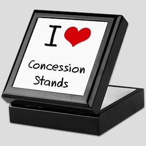 I love Concession Stands Keepsake Box