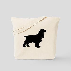 Cocker Spaniel Black Tote Bag