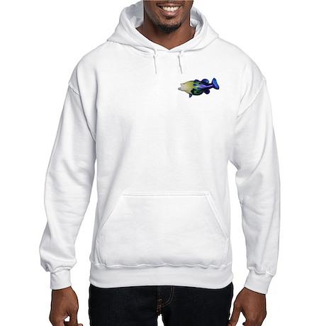 flamed big mouth bass Hooded Sweatshirt