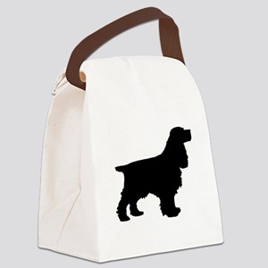 Cocker Spaniel Black Canvas Lunch Bag