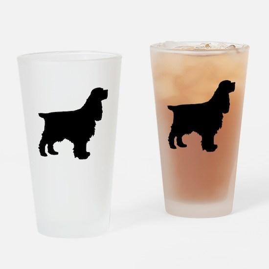 Cocker Spaniel Black Drinking Glass