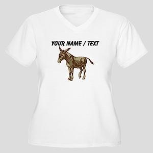 Custom Donkey Plus Size T-Shirt