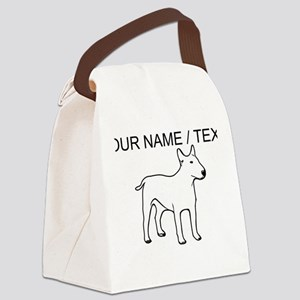 Custom English Bull Terrier Canvas Lunch Bag