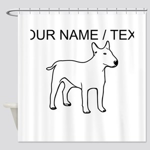 Custom English Bull Terrier Shower Curtain