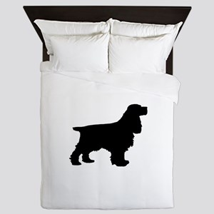 Cocker Spaniel Black Queen Duvet
