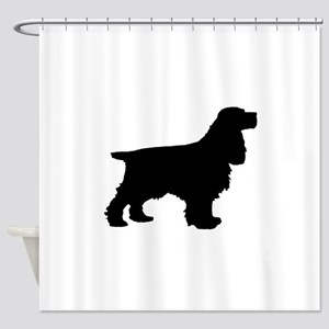 Cocker Spaniel Black Shower Curtain