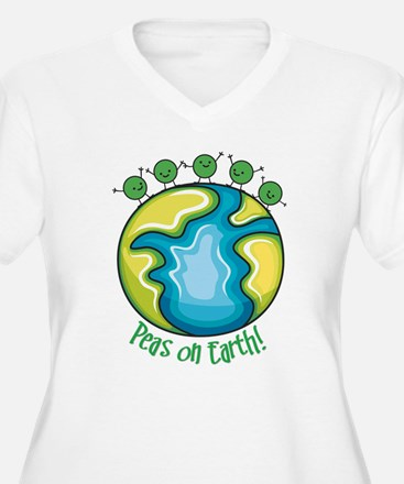 Peas on Earth Plus Size T-Shirt