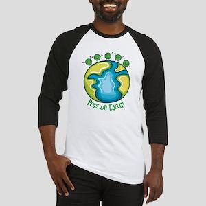Peas on Earth Baseball Jersey