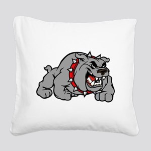 grey bulldog Square Canvas Pillow