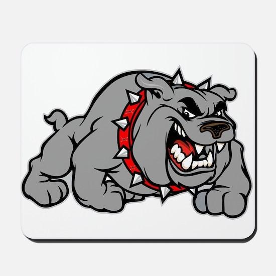 grey bulldog Mousepad