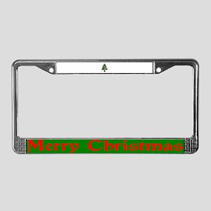 Christmas Tree License Plate Frame