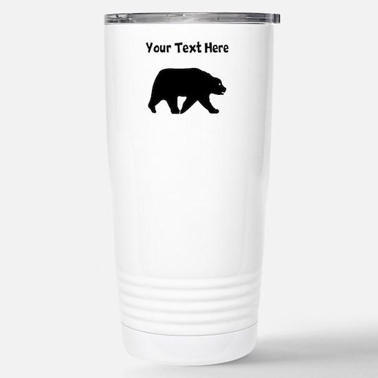 Bear Walking Silhouette Mugs