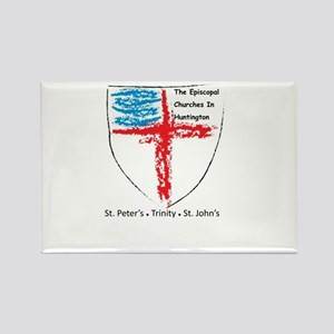 Episcopal Churches in Huntington Rectangle Magnet