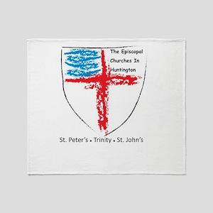 Episcopal Churches in Huntington Throw Blanket