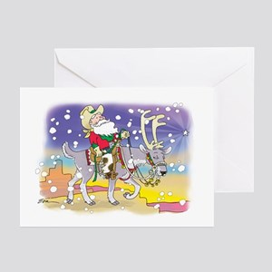 santacowboy Greeting Cards