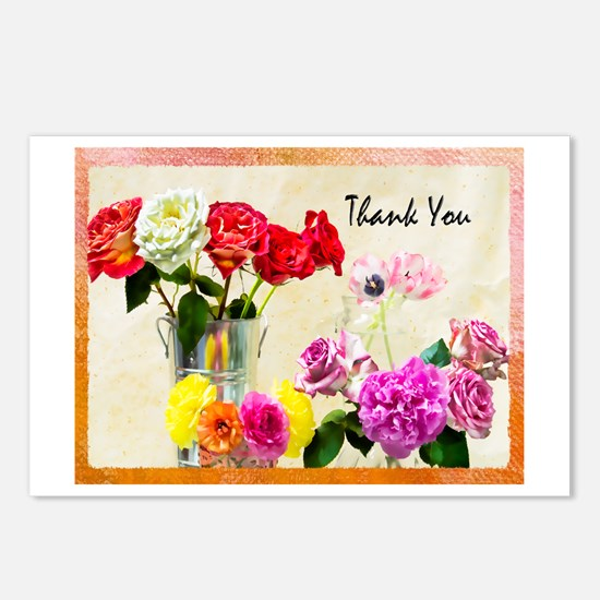 Thank You Flowers In Vase Postcards (Package of 8)