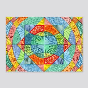 Sacred Geometry 5'x7'Area Rug