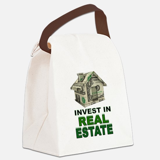 REAL ESTATE Canvas Lunch Bag