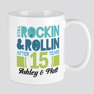 15th Anniversary Funny Personalized Gift Mugs
