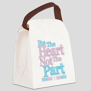Heart Not The Part Transgender Canvas Lunch Bag
