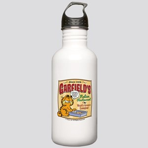 Garfield's Italian Restaurant Stainless Water Bott